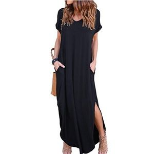 Dresses & Skirts - Loose Fit Side Pocket Maxi Dress
